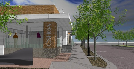 Rendering of new CSHQA office at 2nd & Broad Streets, Boise, ID